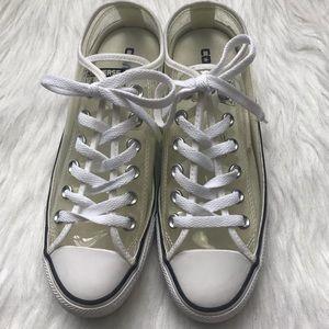 Converse clear white transparent shoes M5/W7